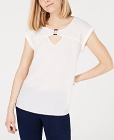 BCX Juniors' Keyhole-Neck Top