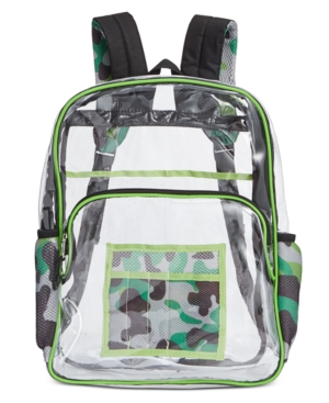 Image of Accessory Innovations Little & Big Boys Thinking Clear Backpack
