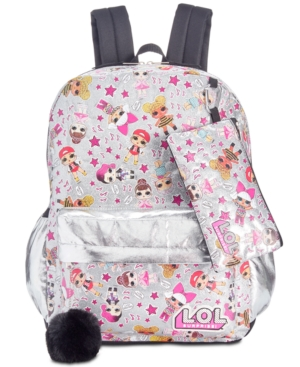 Image of Accessory Innovations Little & Big Girls 3-Pc. Lol Surprise! Graphic Backpack Set