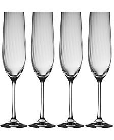 Erne Flute Glass Set of 4