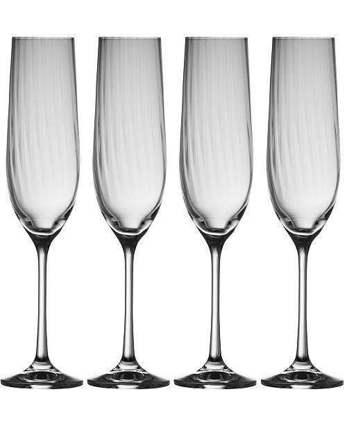 Belleek Pottery Erne Flute Glass Set of 4