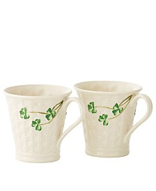 Shamrock Basketweave Mugs
