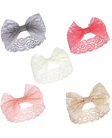 Girl Lace Headbands, 5-Pack