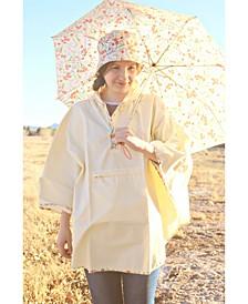 Printed Bucket Rain Hat & Rain Poncho