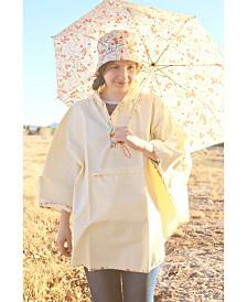 Totes Printed Bucket Rain Hat & Rain Poncho