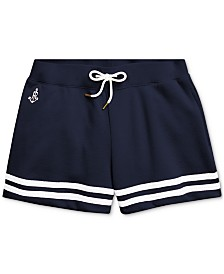 Polo Ralph Lauren Big Girls Striped French Terry Shorts