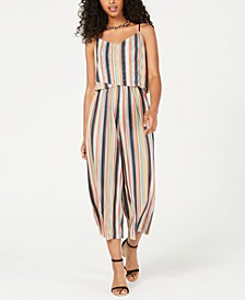 Juniors' Printed Popover Jumpsuit