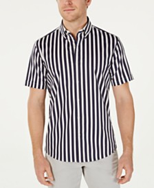 Michael Kors Men's Slim-Fit Stretch Vertical Stripe Shirt