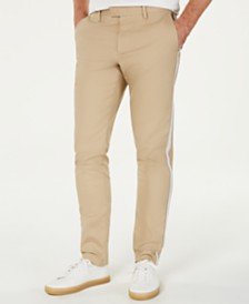 Michael Kors Men's Slim-Fit Hybrid Varsity-Stripe Chino Pants