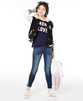 9fb3fb4728de Epic Threads Big Girls Hooded Varsity Jacket, Love-Print T-Shirt & Side