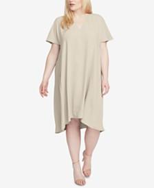 RACHEL Rachel Roy Trendy Plus Size Coretta Cold-Shoulder Shift Dress