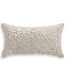 "Hotel Collection Classic Flourish Floral Damask 12"" x 20"" Decorative Pillow, Created for Macy's"