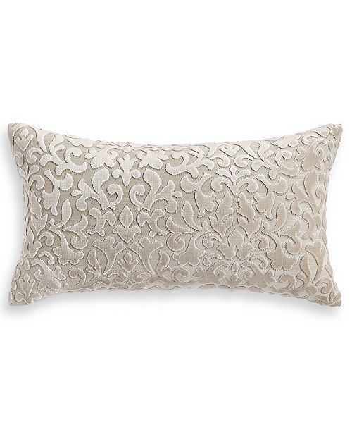 """Hotel Collection Classic Flourish Floral Damask 12"""" x 20"""" Decorative Pillow, Created for Macy's"""