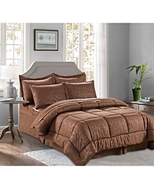 6-Piece Bamboo Bed-in-a-Bag Comforter Set Includes Bed Sheet Set with Double Sided Storage Pockets Twin/Twin XL