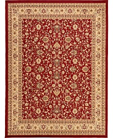 "Bridgeport Home Arnav Arn1 Burgundy 9' 10"" x 13' Area Rug"