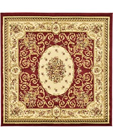 Belvoir Blv4 Red 4' x 4' Square Area Rug