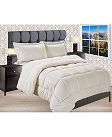 Premium Quality Heavy Weight Micromink Sherpa - Backing Reversible Down Alternative Micro - Suede 2-Piece Comforter Set, King