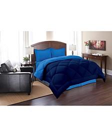 All - Season Down Alternative Luxurious Reversible 3-Piece Comforter Set Full/Queen