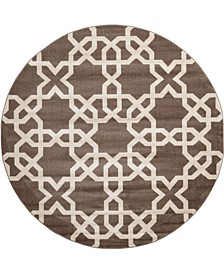 Arbor Arb5 Light Brown 8' x 8' Round Area Rug