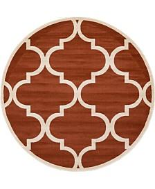 Bridgeport Home Arbor Arb3 Rust Red 8' x 8' Round Area Rug