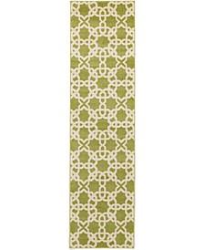 "Arbor Arb5 Green 2' 7"" x 10' Runner Area Rug"