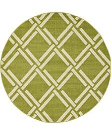 Arbor Arb4 Green 6' x 6' Round Area Rug