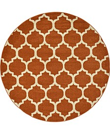 Arbor Arb1 Light Terracotta 6' x 6' Round Area Rug