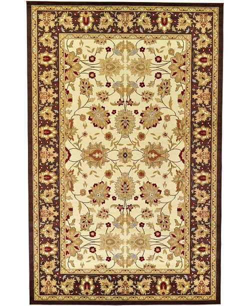 "Bridgeport Home Passage Psg3 Ivory 10' 6"" x 16' 5"" Area Rug"