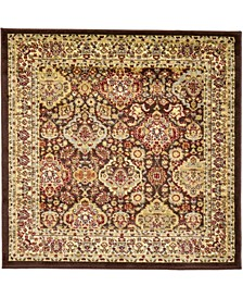 Passage Psg7 Brown 4' x 4' Square Area Rug