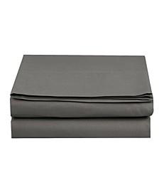 Silky Soft Single Flat Set King Gray