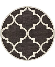 Arbor Arb3 Brown 6' x 6' Round Area Rug