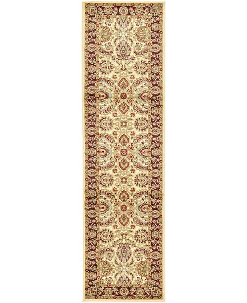 "Bridgeport Home Passage Psg9 Ivory 2' 7"" x 10' Runner Area Rug"