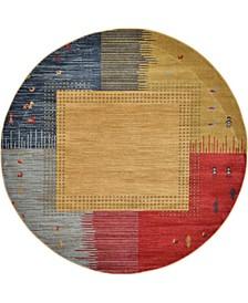 Ojas Oja9 Tan 6' x 6' Round Area Rug