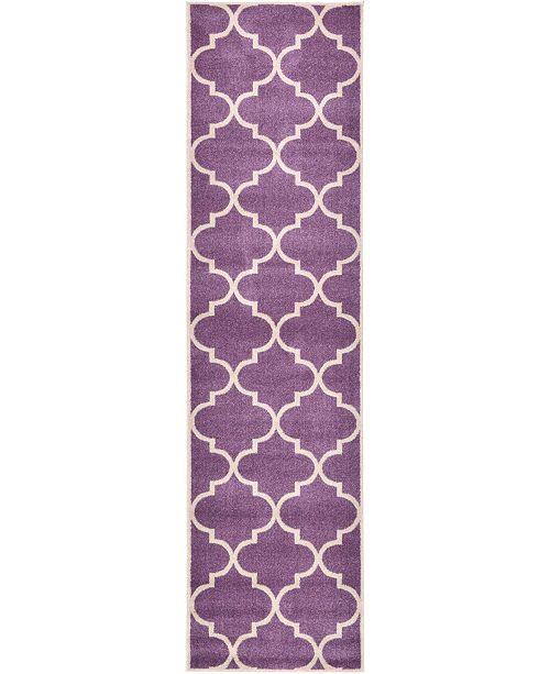 "Bridgeport Home Arbor Arb3 Purple 2' 7"" x 10' Runner Area Rug"