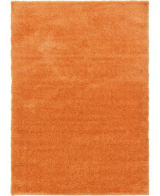 Jiya Jiy1 Orange 7' x 10' Area Rug