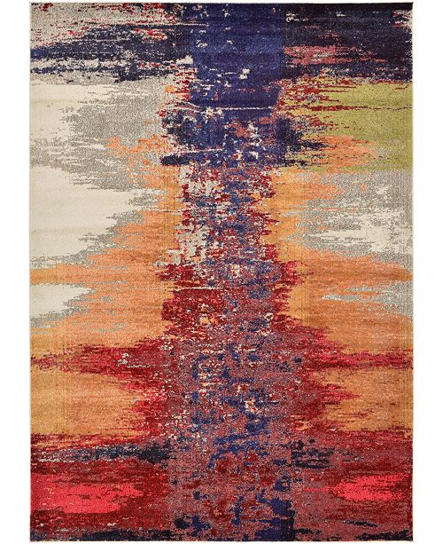 Bridgeport Home Newwolf New2 Pink 7' x 10' Area Rug