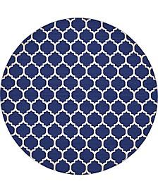 """Arbor Arb1 Dark Blue 12' 2"""" x 12' 2"""" Round Area Rug"""