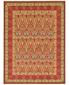 Orwyn Orw3 Red/Tan 9' x 12' Area Rug