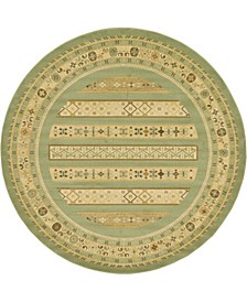 Ojas Oja4 Light Green 8' x 8' Round Area Rug