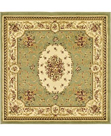 Belvoir Blv4 Green 4' x 4' Square Area Rug
