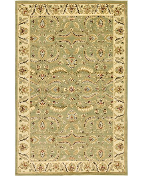 "Bridgeport Home Passage Psg1 Green 10' 6"" x 16' 5"" Area Rug"
