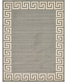Bridgeport Home Anzu Anz2 Gray 9' x 12' Area Rug