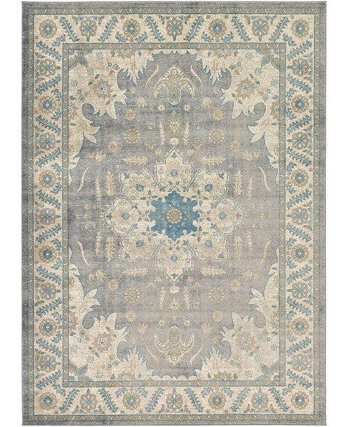 Bridgeport Home Bellmere Bel2 Gray 7' x 10' Area Rug