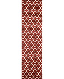 "Arbor Arb1 Red 2' 7"" x 10' Runner Area Rug"