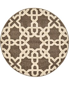 "Arbor Arb5 Light Brown 3' 3"" x 3' 3"" Round Area Rug"