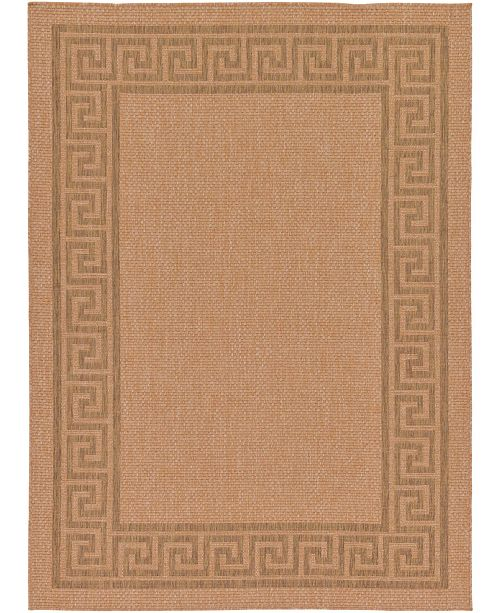"Bridgeport Home Pashio Pas6 Light Brown 7' x 9' 7"" Area Rug"