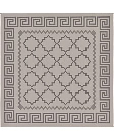 Bridgeport Home Pashio Pas5 Gray 6' x 6' Square Area Rug