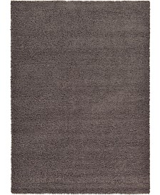 Bridgeport Home Exact Shag Exs1 Graphite Gray 7' x 10' Area Rug