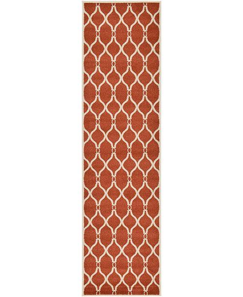 "Bridgeport Home Arbor Arb6 Terracotta 2' 7"" x 10' Runner Area Rug"