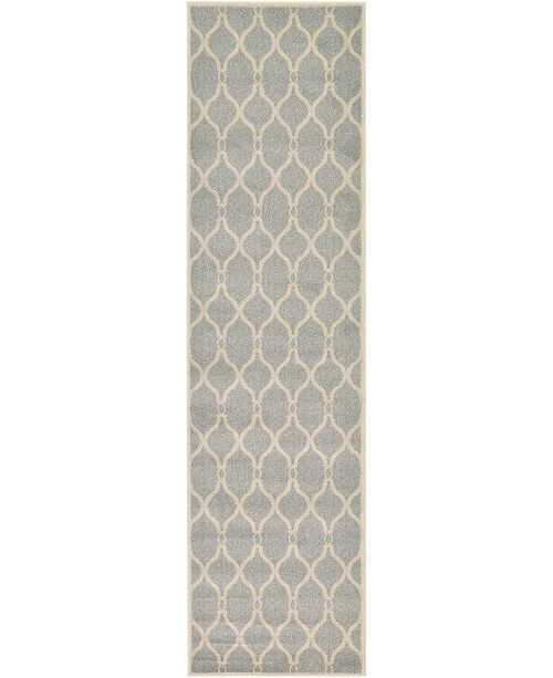 "Bridgeport Home Arbor Arb6 Light Gray 2' 7"" x 10' Runner Area Rug"